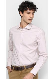 Camisa Manga Longa Vr Lisa Masculina - Masculino-Rosa Claro
