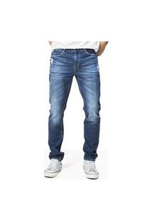 Calça Jeans Masculina Fit Cinza Escuro