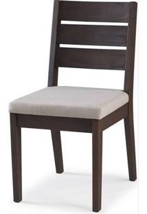 Cadeira Assento Estofado Fortaleza Stain Nogueira - 35427 - Sun House