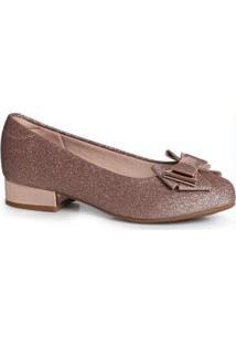 Sapato Infantil Glitter Cobre Cobre