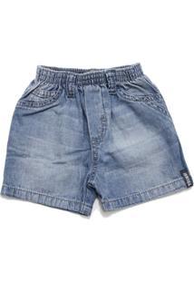 Bermuda Tóing Bebê Jeans Azul