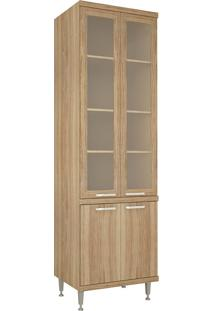 Paneleiros 4 Portas Com Vidro Argila Texturizado - Multimóveis