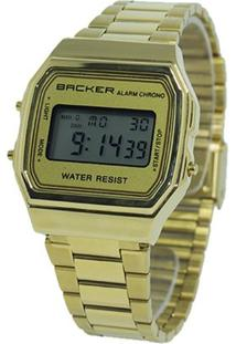 Relógio Masculino Backer Digital 15000475M - Unissex-Dourado
