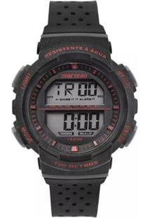Relógio Mormaii Digital Fun Mo36508R Preto/Branco - Unissex-Preto+Vermelho