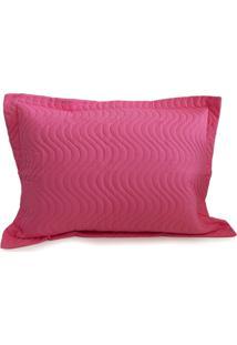 Porta Travesseiro Avulso Matelado - Juma - Rosa Pink