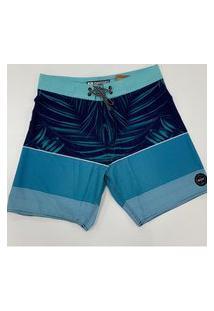 Bermuda Boardshort Com Elastano Reef 13869 Azul