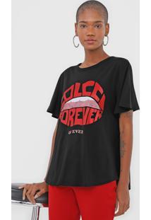 Camiseta Colcci Forever Preta