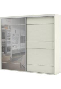 Armario Premium Com Espelho 2 Portas E 4 Gavetas Cor Off White 2,67 Mt (Larg) - 56462 - Sun House