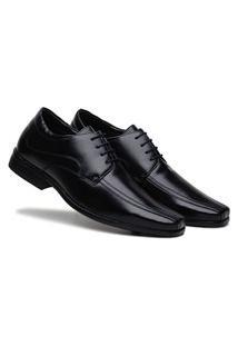 Sapato Social Masculino Comfort Macio - Preto