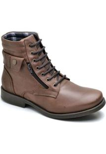Bota Top Franca Shoes Casual - Masculino-Café