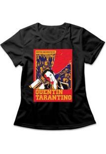 Camiseta Tarantino Feminina - Feminino-Preto