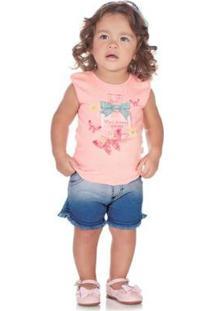 Blusa Feminino Bebê - Feminino-Rosa