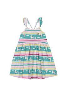 Vestido Kinha Primeiros Passos Em Meia Malha Alto Verão