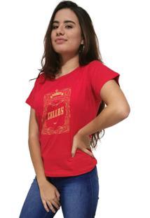 Camiseta Feminina Cellos Retro Frame Premium Vermelho - Kanui