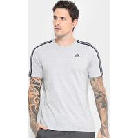 Camiseta Adidas Ess 3S Masculina - Masculino-Cinza ff73e9db7d831