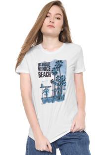 Camiseta Calvin Klein Jeans Estampada Branca