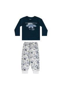 Pijama Infantil Masculino Bebê Morcego Elian