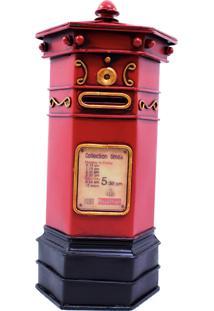 Enfeite Metal Minas De Presentes Caixa Postal Vermelho