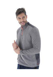 Blusa De Frio Fleece Oxer Fleece Torquay - Masculino - Cinza Escuro