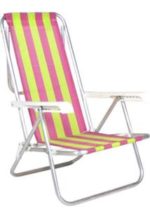 Cadeira Reclinável 8 Posições Alumínio Multicolorido Belfix