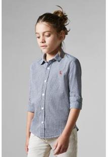 Camisa Infantil Mini Vichy Reserva Masculina - Masculino-Preto