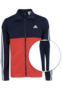 Agasalho Adidas Back2Bas 3S - Masculino - Azul Esc Vermelho c42e806ed6b13