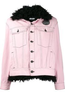 Pinko Jaqueta Jeans Com Detalhe Interno - Rosa