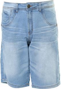 Bermuda Jeans Zune Reta Estonada Azul - Kanui