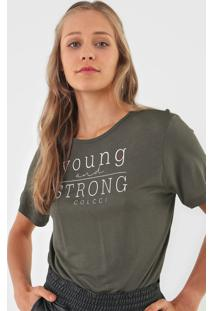 Camiseta Colcci Young And Strong Verde