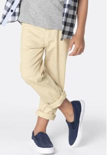 Calça Infantil Menino Em Sarja De Algodão