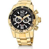 005425a571e Netshoes. Relógio Pulso Everlast Cronógrafo Pulseira Aço E652 - Masculino