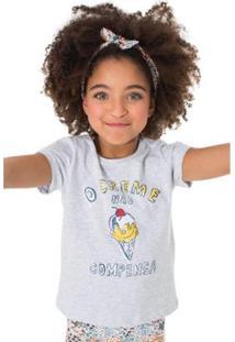 Camiseta Infantil O Creme Não Compensa Reserva Mini Feminina - Feminino