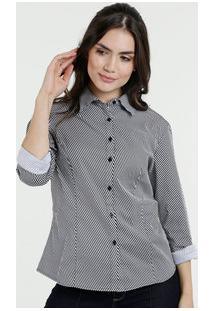ac98291904f0d Camisa Feminina Estampa Listrada Manga Longa Marisa