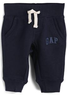 Calça De Moletom Gap Infantil Logo Azul-Marinho