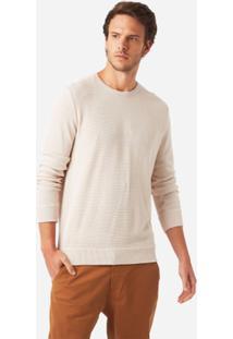 Casaco Foxton Tricot Maquinetado Masculina - Masculino-Off White