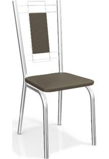 Conjunto 2 Cadeiras Kappesberg Crome Florença Marrom