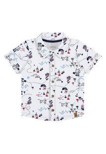Camisa Bebê Menino Piratas Branco - Alakazoo