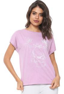 Camiseta Colcci Estampada Lilás - Kanui