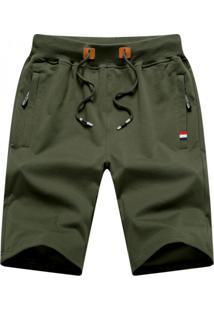 Bermuda Masculina Com Cordão - Verde Exército Pp