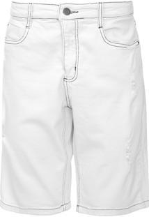 Bermuda Jeans Aeropostale Reta Bolsos Off-White