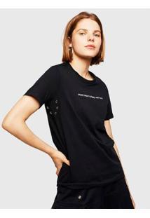 Camiseta Diesel T-Sily-Wr Feminina - Feminino-Preto