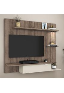 Painel Para Tv Até 47 Polegadas 1 Porta 3116 Rústico/Off White - Móvel Bento