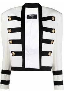 Balmain Jaqueta Militar - Branco
