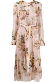 Zimmermann Vestido Midi Brightside - Rosa