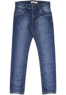 Calça Infantil Look Jeans Skinny Jeans Masculina - Masculino-Azul