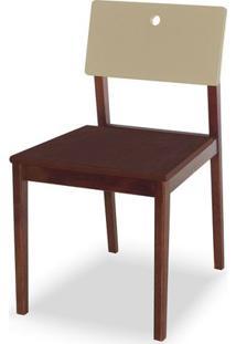 Cadeira Flip Cor Cacau Com Encosto Bege - 31129 Sun House