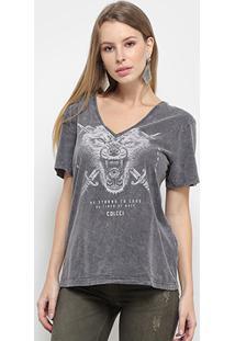 Camiseta Colcci Lobo Feminina - Feminino