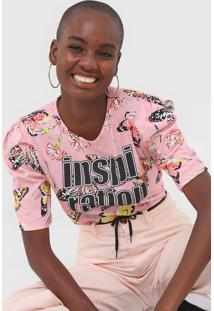 Camiseta Coca-Cola Jeans Inspiration Rosa - Rosa - Feminino - Algodã£O - Dafiti