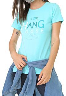 Camiseta Hang Loose Basic Aloha Azul - Kanui