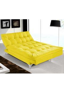 Sofá Cama Casal Versátil Amarelo